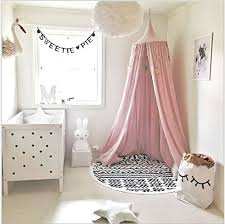 Children Bed Canopy Round Dome, nursery decorations, Cotton Mosquito Net,  Kids Princess Play
