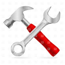 open end wrench clipart. crossed hammer and nut wrench vector clipart open end clipart