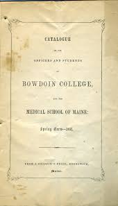 Bowdoin College And The Medical College Of Maine 1851 1852