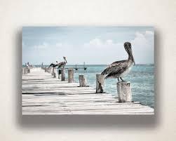 ocean wharf pelicans canvas art ocean wharf wall art ocean canvas print artwork photograph canvas print home art wall art canvas by xddesigns on etsy  on pelican canvas wall art with ocean wharf pelicans canvas art ocean wharf wall art ocean canvas
