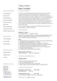 Cv Shop Assistant Sales Assistant Cv Example Shop Store Resume Retail