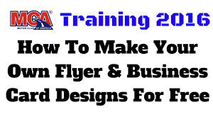 Make Your Own Flyers Online Free Mca Training 2016 How To Make Your Own Flyer Business Card