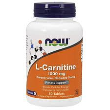 <b>L</b>-<b>Carnitine</b>, <b>1000 mg</b>, 50 Tabs by Now Foods: Amazon.in: Health ...