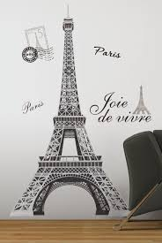 Eiffel Tower Decoration Roommates Rmk1576gm Eiffel Tower Peel And Stick Giant Wall Decal