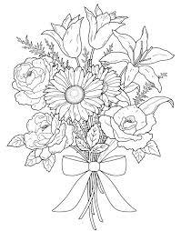 fl bouquets coloring book