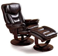 lane impulse recliner and ottoman leather chair