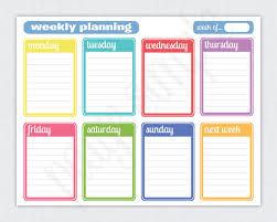 Simple Weekly Planner Free Printable Weekly Planner Via