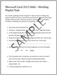 Wedding Song Playlist Wedding Playlist Activity For Teaching Microsoft Excel Skills