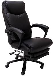 heated massage reclining leather office chair w footrest