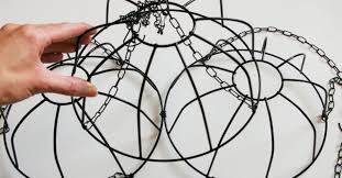 this diy wire basket chandelier will glam up any room rh wp jumblejoy com wire basket