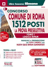 Libro Concorso Comune di Roma per prova preselettiva - Edizioni Simone