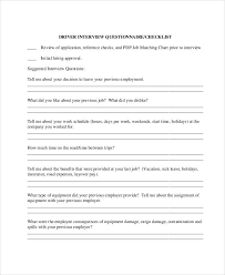 Employer Interview Checklist 22 Examples Of Interview Questionnaires Examples