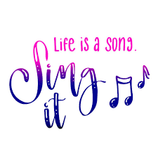 Life Is A Song Sing It Lebensbejahendes Zitat Und Handlettering