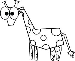 Cute Cartoon Giraffe Coloring Pages Printable Fascinating Free Good