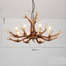 2018 new 8 cast antler chandeliers eight candelabra ceiling lights rustic lighting home decor fixtures 36