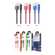 Cáp Sạc Hoco U47 Cho Iphone/Ipad 1m2 Chính Hãng đèn led, tự ngắt khi đầy  pin.