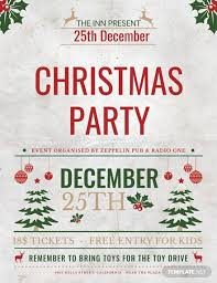 Free Christmas Event Party Flyer Template Word Psd