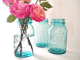 Blue Mason Jars Wedding Decor Blue Mason Jars Antique Ball Jar Collection Vintage Chic Wedding 37