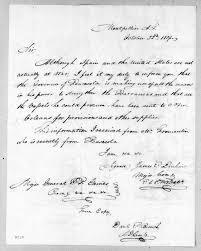 James Edward Dinkins to Edmund Pendleton Gaines, October 22, 1819 ...