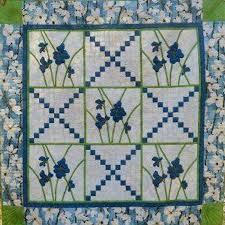 Blue Dogwood Quilt Pattern MCL-6 (advanced beginner, lap and throw) & Blue Dogwood Quilt Pattern MCL-6 Adamdwight.com