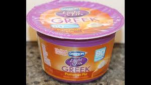 Yoplait Light And Fit Greek Yogurt Dannon Light Fit Greek Pumpkin Pie Yogurt Review