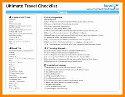 Sample Travel Packing List Travel Packing List Template Beautiful 8 Checklist For International