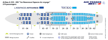 Air France A380 800 Seat Chart Air France Airlines Airbus A330 200 Aircraft Seating Chart