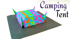 How To Make A Tent How To Make A Paper Camping Tent Origami Tutorial Youtube