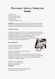 Service Technician Resume Sample Gallery Of Resume Samples Electronic Service Technician Resume 21