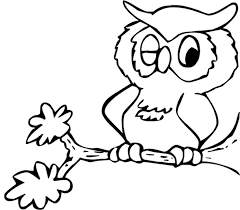 Cartoon Coloring Kids Owl Coloring Pages