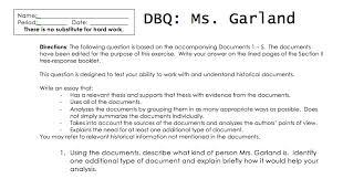 Dbq On Me Essay Examples History Essay Essay Questions
