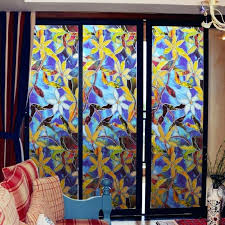 stained glass window cover window paper cover faux stained glass window uk