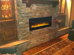 image of dimplex electric fireplace insert with glass