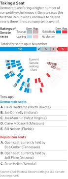 Senate Seating Chart Trump Looms Over Fight For Control Of The Senate Wsj