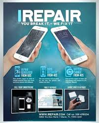 glass scratch repair smartphone flyer template kit oreil