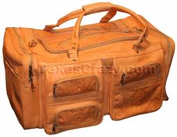 480 extra large tooled leather duffel bag