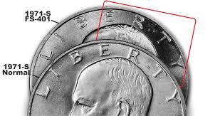 1972 Eisenhower Dollar Value Chart 1971 S Eisenhower Dollar Coin Profile Variety Attribution