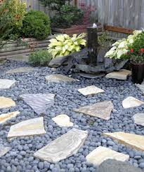 Pebble Garden Landscaping Using Pebbles Install Pebbles And River Stones