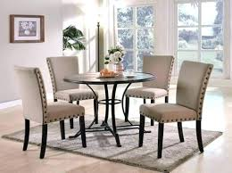round table set for 4 dining table set 4 chairs sets round room for glass within