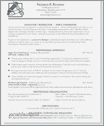Sample Resume For Teachers Best Resume Sample For Teaching Profession New Sample Resume For Early