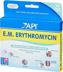 Fish Medication Chart Api E M Erythromycin Freshwater Fish Bacterial Disease
