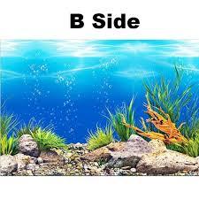 Aquarium Background Pictures New Pvc Double Sided Aquarium Background Poster Decoration Fish Tank
