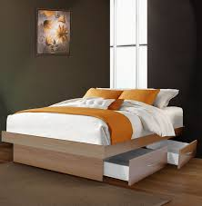 platform in bedroom full size platform bed with 4 drawers contempo space