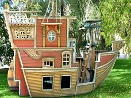 pirate ship playhouse for there was a super awesome pirate ship at a house near pirate ship
