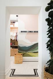 diy paint by numbers wall mural bathroom makeover