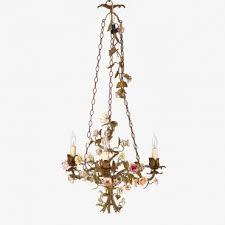 vintage porcelain flowers chandelier