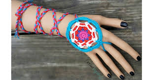 Dream Catcher Bracelet Amazon Mandala Dreamcatcher Wrap Bracelet Pattern Crochet Freebie 90