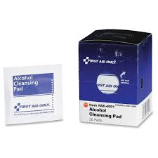First Aid Only <b>Alcohol</b> Cleansing <b>Pads</b> (20 Per Box)-FAOFAE4001 ...