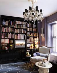 home library lighting. Antique Custom Home Library Design For A Quiet Reading Room : Fabolous Lighting