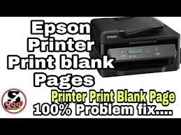 Beginning to think the head is naffed? Epson Printer Print Blank Pages Problem Fix 100 Youtube